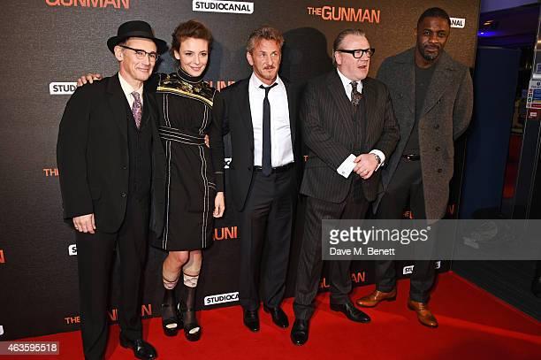Mark Rylance Jasmine Trinca Sean Penn Ray Winstone and Idris Elba attend the World Premiere of The Gunman at BFI Southbank on February 16 2015 in...