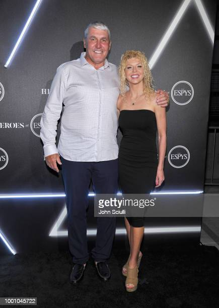 Mark Rypien and Danielle Rypien attend HEROES at The ESPYS at City Market Social House on July 17 2018 in Los Angeles California