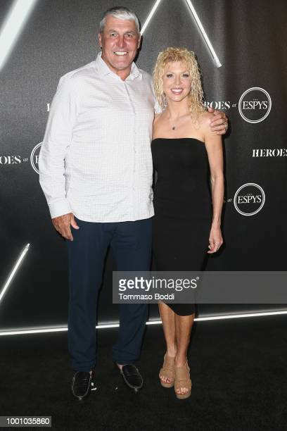 Mark Rypien and guest attend the ESPN's HEROES At THE ESPYS Official PreParty at City Market Social House on July 17 2018 in Los Angeles California