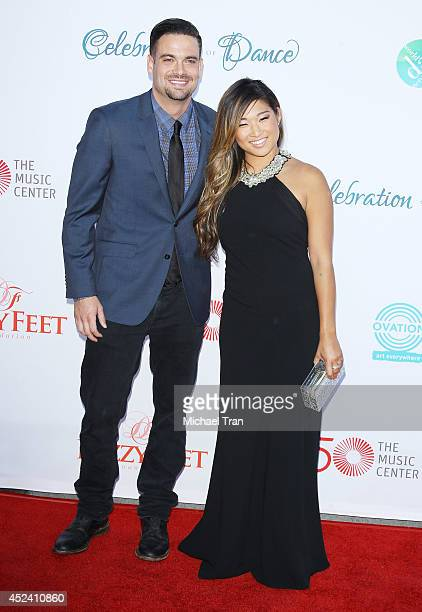 Mark Salling and Jenna Ushkowitz arrive at The Dizzy Feet Foundation's 4th Annual Celebration of Dance Gala held at Dorothy Chandler Pavilion on July...