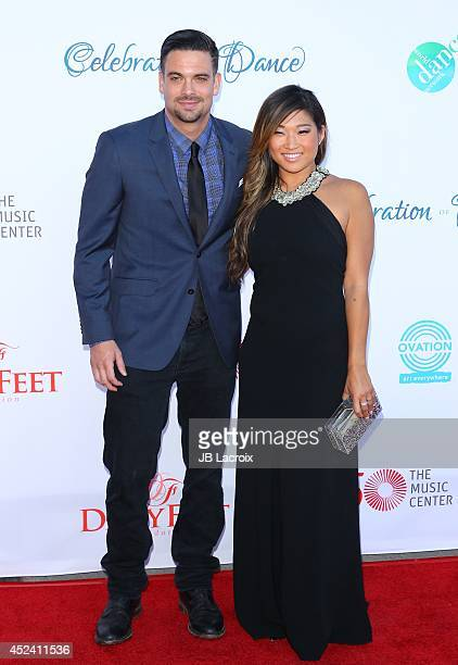 Mark Salling and Jenna Ushkowitz attend the 4th Annual Celebration Of Dance Gala Presented By The Dizzy Feet Foundation at Dorothy Chandler Pavilion...