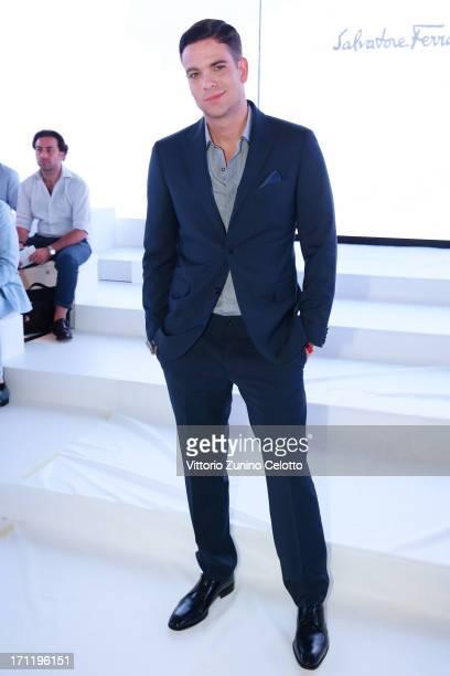 Mark Salling attends the Salvatore Ferragamo show during Milan Menswear Fashion Week Spring Summer 2014 on June 23 2013 in Milan Italy