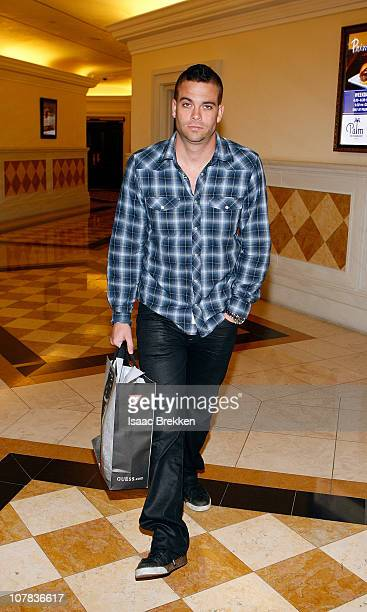 Mark Salling shops at the Guess store at The Forum Shops at Caesars Palace on December 31 2010 in Las Vegas Nevada