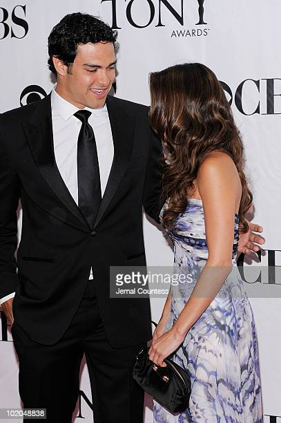 Mark Sanchez and JaimeLynn Sigler attend the 64th Annual Tony Awards at Radio City Music Hall on June 13 2010 in New York City