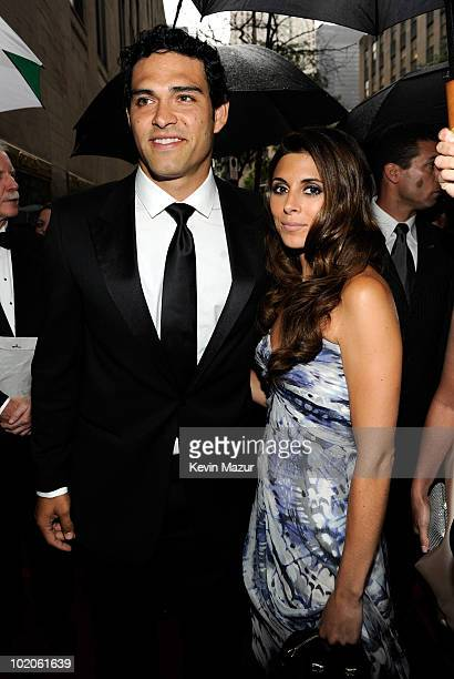 Mark Sanchez and JamieLynn Sigler attends the 64th Annual Tony Awards at Radio City Music Hall on June 13 2010 in New York City