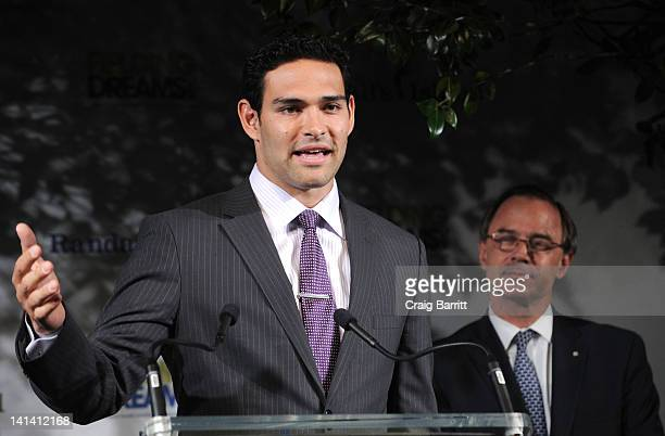 Mark Sanchez attends the 2012 Randall's Island Sports Foundation Fielding Dreams Gala at Skylight SOHO on March 15 2012 in New York City