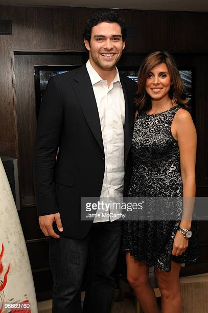 Mark Sanchez of the New York Jets and actress JamieLynn Sigler attend LG Infinia LED Premiere Screening of Keep Surfing during the 2010 Tribeca Film...