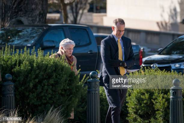 Mark Sandy a senior career official at the Office of Management and Budget arrives to the US Capitol for a closed door deposition with lawmakers...