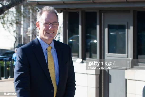Mark Sandy a senior official at the Office of Management and Budget arrives to the US Capitol for a closed door deposition with lawmakers on November...