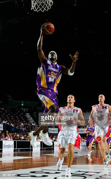 Mark Sanford of the Kings in action during the NBL round 20 match between the Sydney Kings and the Wollongong Hawks at the Sydney Entertainment...