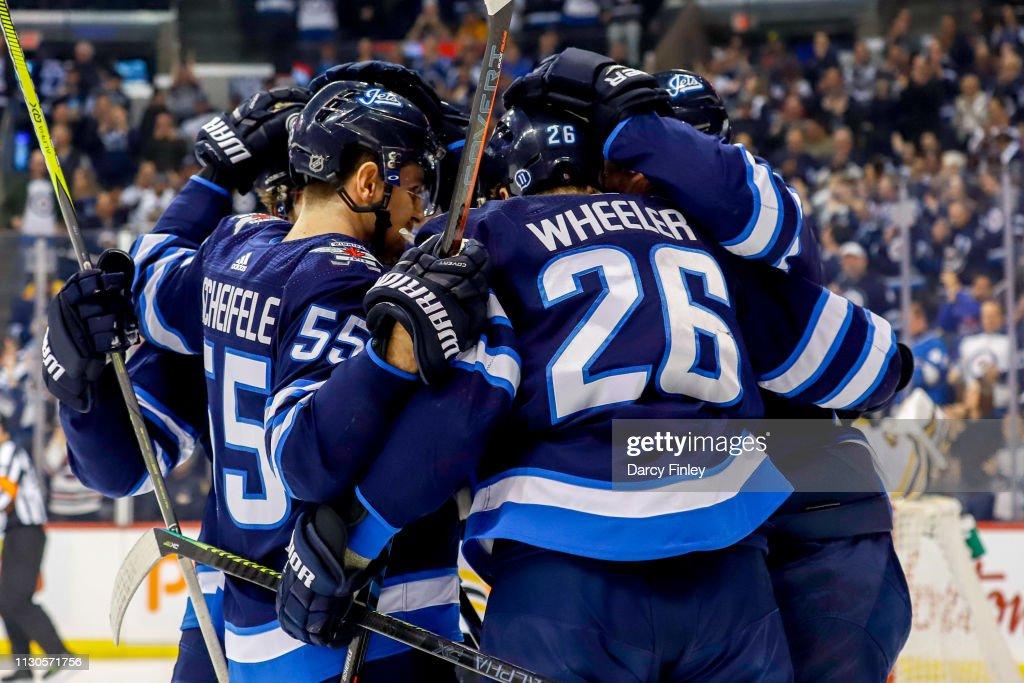 Mark Scheifele And Blake Wheeler Of The Winnipeg Jets Celebrate A News Photo Getty Images