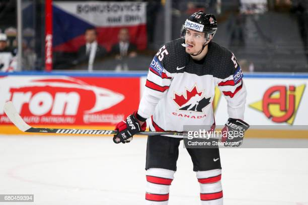 Mark Scheifele of Canada looks on during the 2017 IIHF Ice Hockey World Championship game between Belarus and Canada at AccorHotels Arena on May 8...