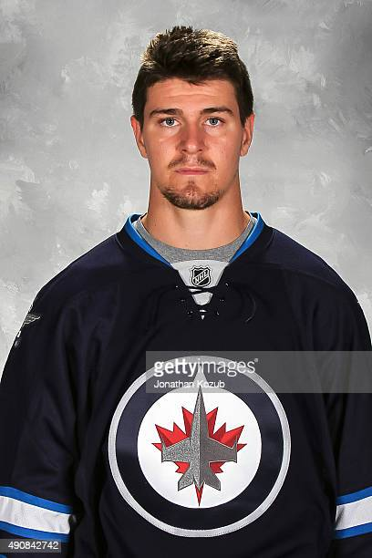 Mark Scheifele of the Winnipeg Jets poses for his official headshot for the 20152016 season on September 17 2015 at the MTS Centre in Winnipeg...