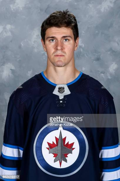 Mark Scheifele of the Winnipeg Jets poses for his official headshot for the 20172018 season on September 14 2017 at the Bell MTS Iceplex in Winnipeg...