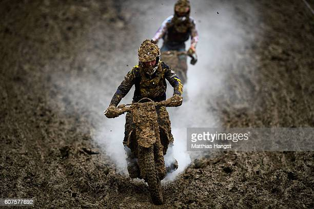 Mark Scheu of Germany in action during the ADAC MX Youngster Cup on September 18 2016 in Holzgerlingen Germany