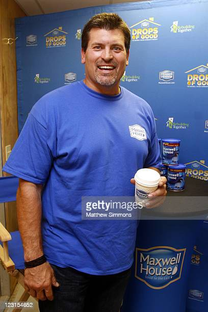 Mark Schlereth volunteers at Drops of Good The Maxwell House Community Project at The GrowHaus on August 31 2011 in Denver Colorado