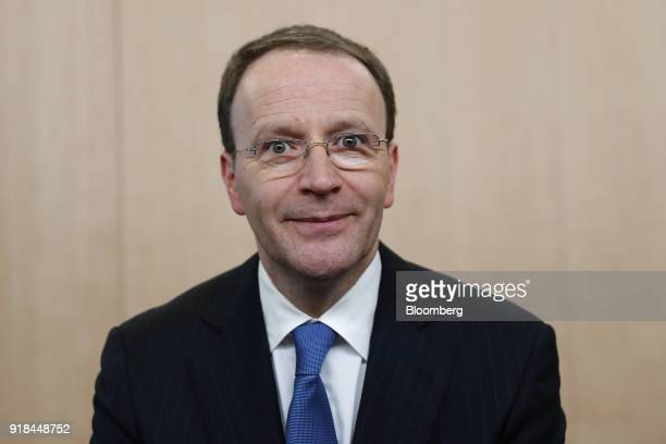 Mark Schneider chief executive officer of Nestle SA poses for a photograph ahead of a news conference announcing the company's full year results in...