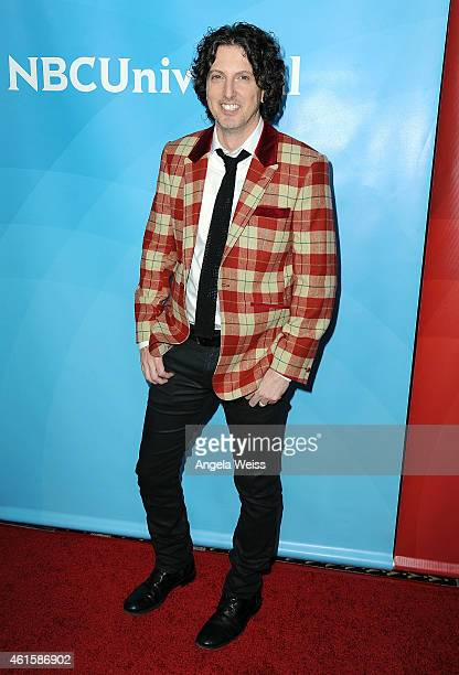 Mark Schwahn arrives at NBCUniversal's 2015 Winter TCA Tour Day 1 at The Langham Huntington Hotel and Spa on January 15 2015 in Pasadena California