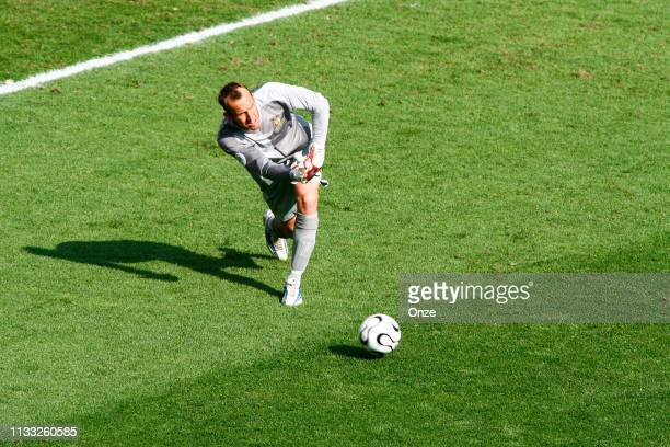 Mark SCHWARZER of Australia during the FIFA World Cup match between Italy and Australia in the FritzWalterStadion Kaiserslautern Germany on Jun 26th...