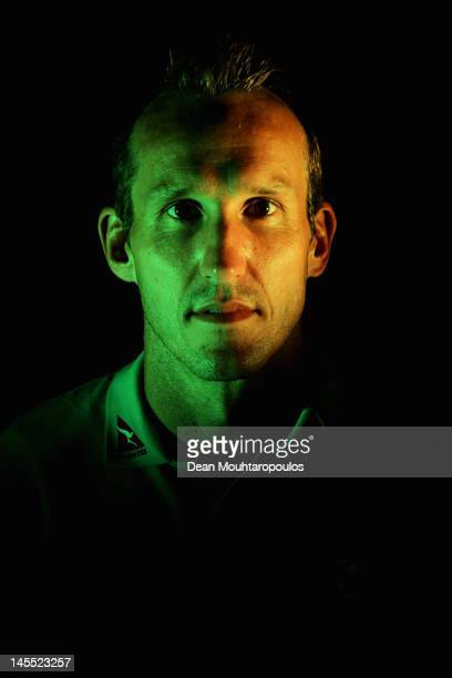Mark Schwarzer of Australia poses during an Australian Socceroos headshots session at Scandic Copenhagen Hotel on May 31 2012 in Copenhagen Denmark