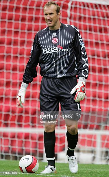 Mark Schwarzer of Middlesbrough during the Colin Cooper Benefit Match between Middlesbrough and Chievo Verona at the Riverside Stadium on August 12,...