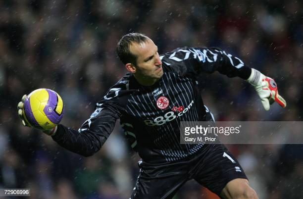 Mark Schwarzer of Middlesbrough in action during the Barclays Premiership match between Blackburn Rovers and Middlesbrough at Ewood Park on December...