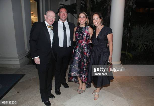 Mark Schwarzman from left Kyle Owens Zibby Schwarzman and Nancie Schwarzman stand for a photograph at the Breakers Hotel in Palm Beach Florida US on...