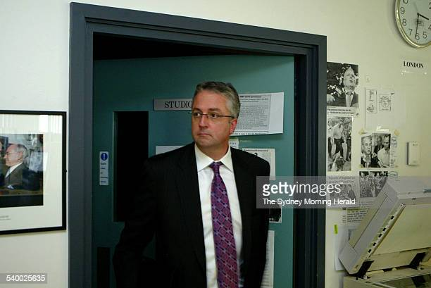 Mark Scott editorial director of John Fairfax Holdings after an interview on ABC Radio's World Today program following the announcement of his...