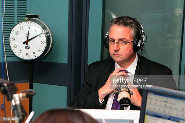 Mark Scott, editorial director of John Fairfax Holdings, prior to an interview on ABC Radio's World Today program after the announcement of his...