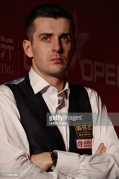 Mark Selby of England looks on in the after match against Judd Trump of England during day six of the Snooker China Open 2011 at Beijing University...