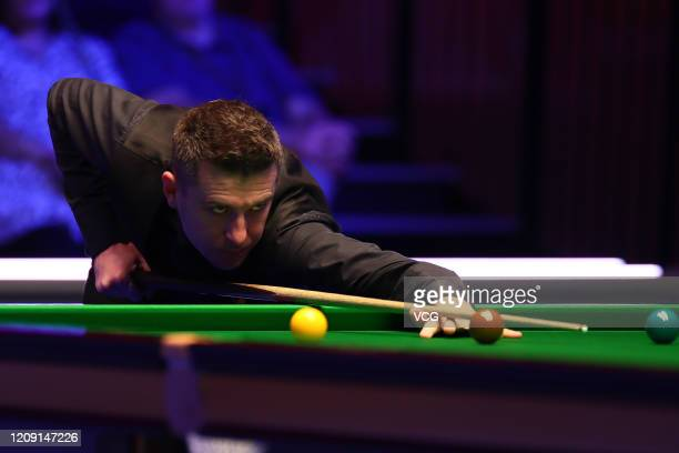 Mark Selby of England plays a shot during a quarterfinal match against Stephen Maguire of Scotland on day four of 2020 Coral Players Championship at...