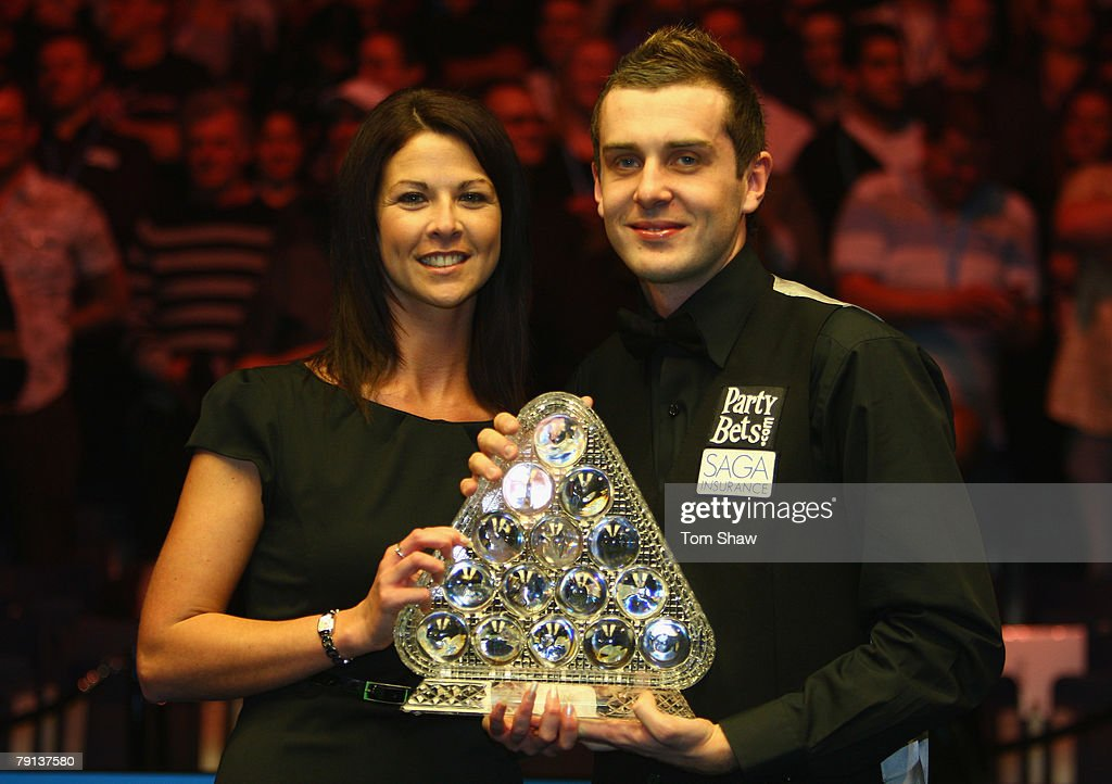 Mark Selby of England with his girlfriend Vicky Layton poses with ...