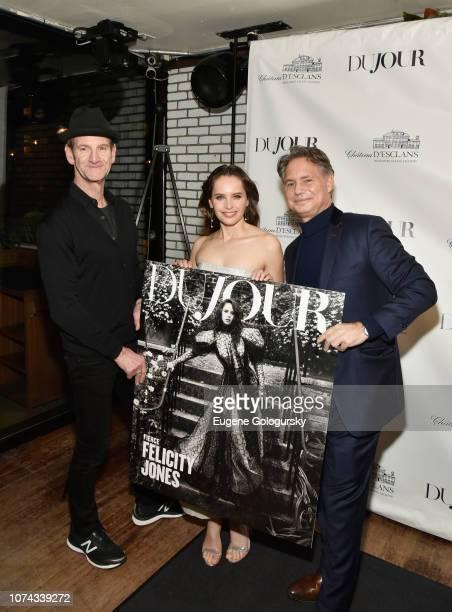 Mark Seliger Felicity Jones and Jason Binn attend as DuJour cover star Felicity Jones celebrates their winter issue with CEO and Founder Jason Binn...
