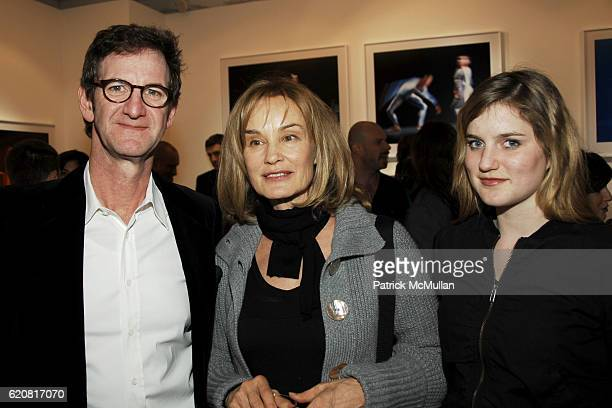 Mark Seliger Jessica Lange and Hannah Shepard attend Private Viewing of 'Merce My Way' By Mikhail Baryshnikov at 401 Projects on March 15 2008 in New...