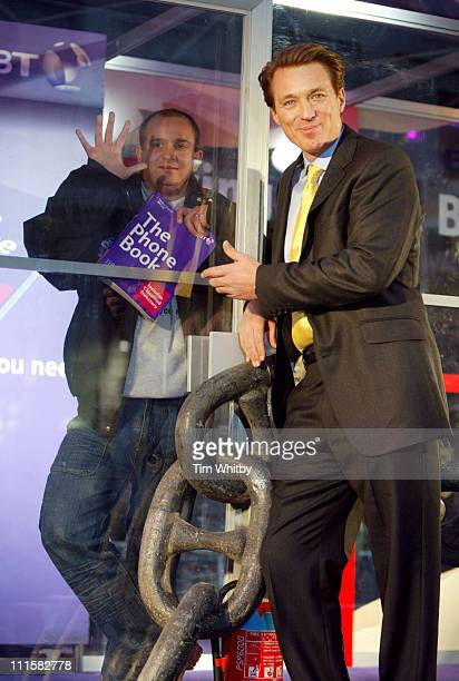 Mark Sewell and Martin Kemp during Living by the Book 2005 Charity Challenge at Covent Garden in London Photocall at East Piazza in London Great...