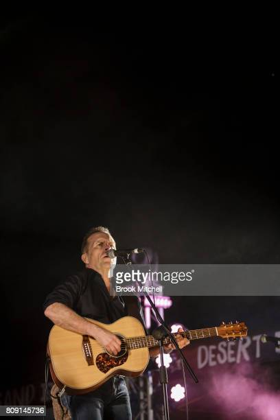 Mark Seymour performs at the Big Red Bash music festival on July 5 2017 in Birdsville Australia