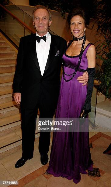 Mark Shand and Clio Goldsmith attend the Quintessentially Diner des Tsars gala evening in aid of UNICEF at the Guildhall on March 29 2007 in London...