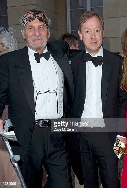 Mark Shand and Geordie Greig attend The Elephant Family presents The Animal Ball at Lancaster House on July 9 2013 in London England