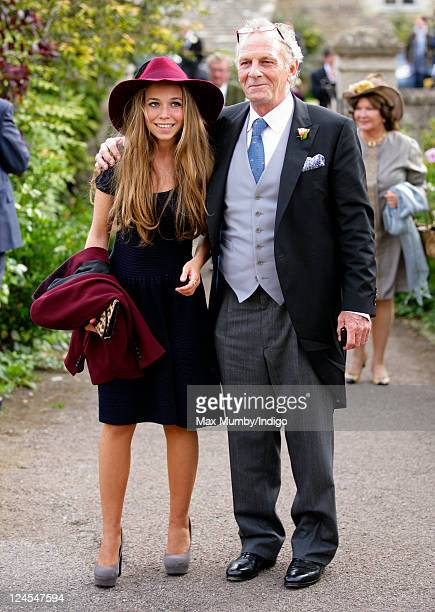 Mark Shand attends the wedding of Ben Elliot and MaryClare Winwood at the church of St Peter and St Paul Northleach on September 10 2011 in...