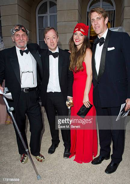 Mark Shand Geordie Greig MaryClare Winwood and Ben Elliot attend The Elephant Family presents The Animal Ball at Lancaster House on July 9 2013 in...