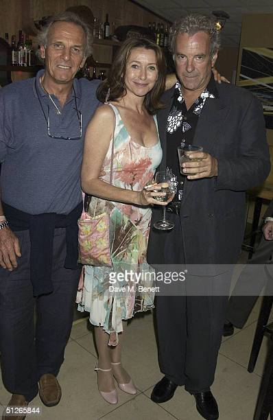 Mark Shand with actors Cherie Lunghi and Jay Benedict attend the UK Gala Film Premiere of Carmen at the Curzon Mayfair on September 5 2004 in London