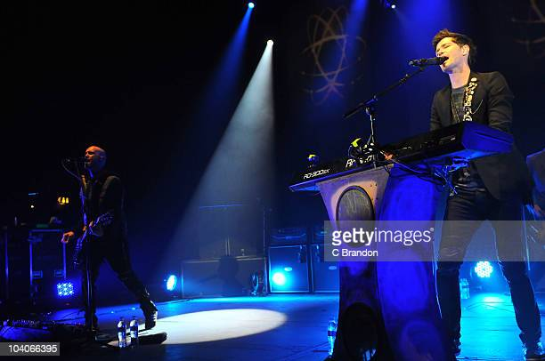 Mark Sheehan and Danny O'Donoghue of The Script performs on stage at Hammersmith Apollo on September 13 2010 in London England