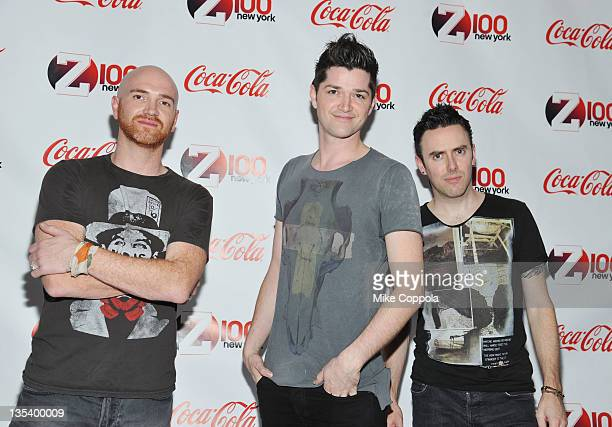 Mark Sheehan Danny O'Donoghue and Glen Power attend Z100 CocaCola All Access Lounge at Z100's Jingle Ball 2011 preshow at Hammerstein Ballroom on...