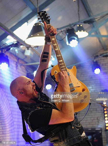 Mark Sheehan from The Script performs on the From The Storehouse With Dermot Whelan show, which aired on RTE 2, ahead of this year's Arthur's Day...
