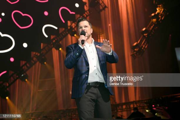 Mark Shunock speaks at the 24th annual Keep Memory Alive 'Power of Love Gala' benefit for the Cleveland Clinic Lou Ruvo Center for Brain Health at...