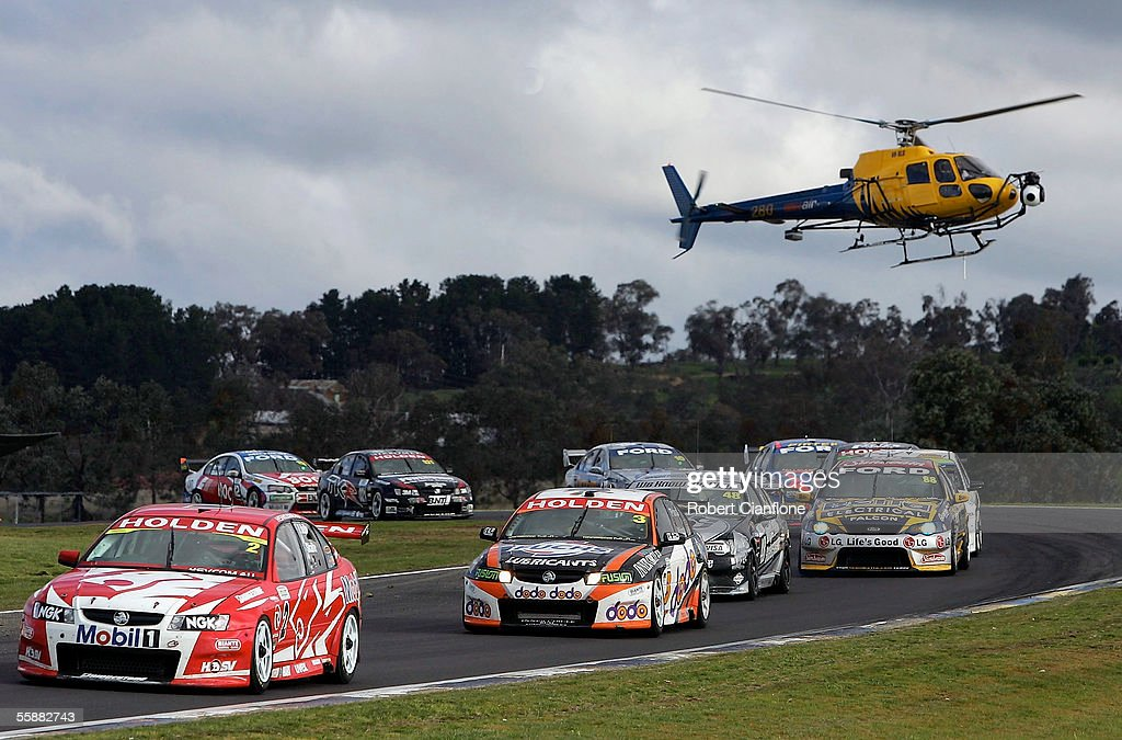 Mark Skaife of the Holden Racing Team leads during a safety car period during the Bathurst 1000 which is round ten of the 2005 V8 Supercar Championship Series at Mount Panorama on October 9, 2005 in Bathurst, Australia.