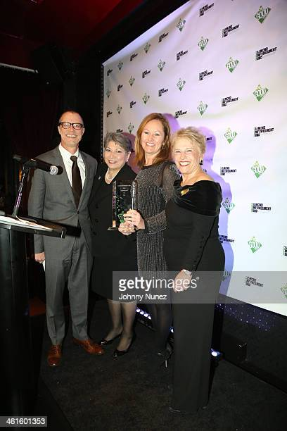 Mark Smeltzer Anna Martin Yancy Weinrich and Phyllis Bergman attend the 2014 Diamond Empowerment Fund GOOD Awards at 230 Fifth Avenue on January 9...