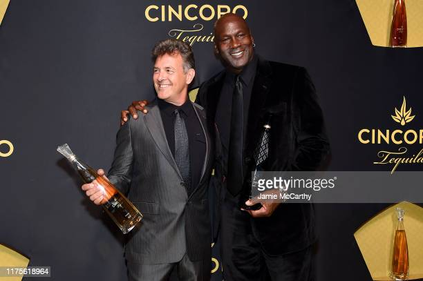 Mark Smith and Cincoro founding partner Michael Jordan the Cincoro Tequila launch at CATCH Steak on September 18 2019 in New York City