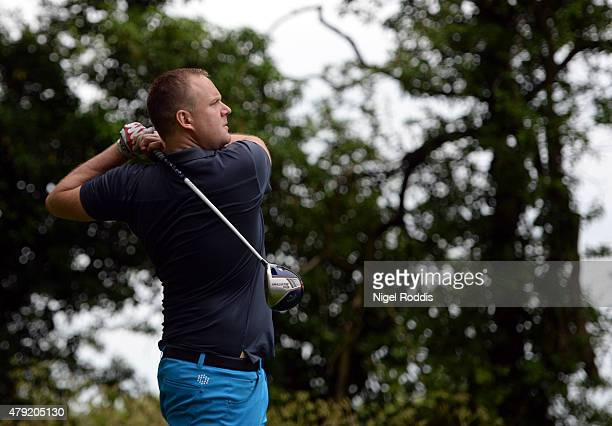 Mark Smith in action during The Lombard Trophy North East Qualifier on July 2 2015 in Fulford England