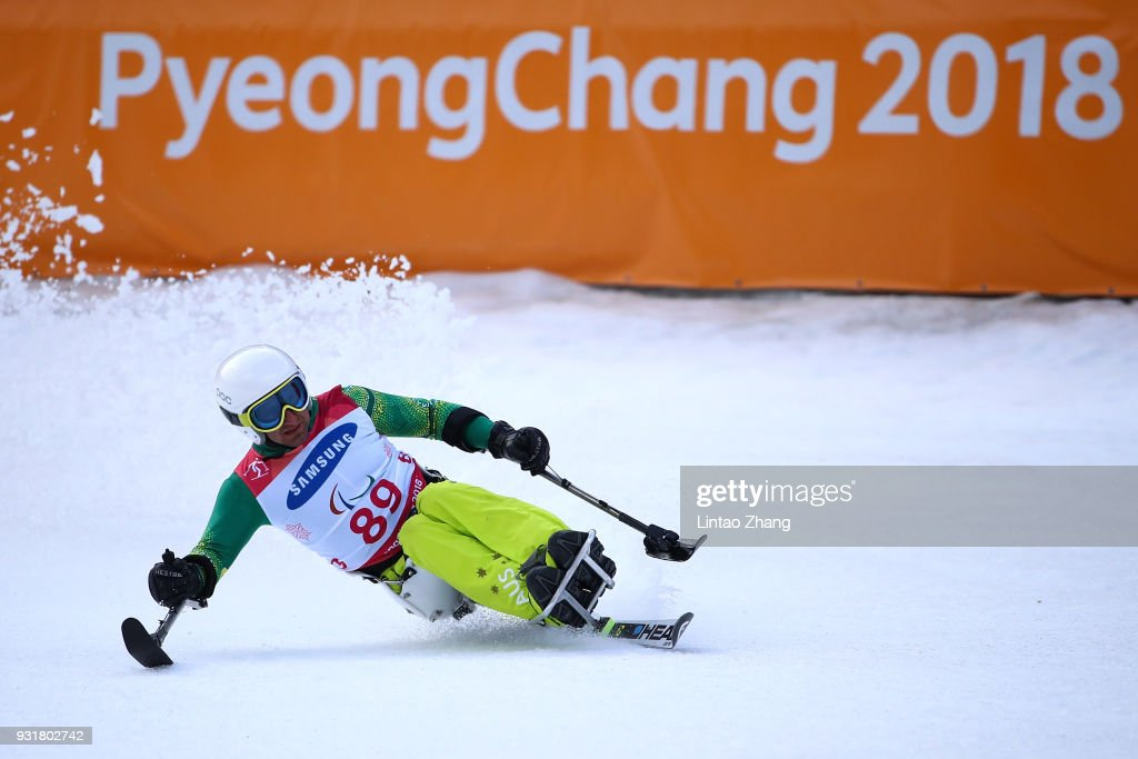 Mark Soyer of Australia competes in the Men's Giant Slalom Run - Sitting at Alpensia Biathlon Centre on day five of the PyeongChang 2018 Paralympic Games on March 14, 2018 in Pyeongchang-gun, South Korea.